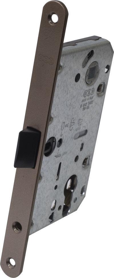 Защелка дверная AGB Mediana Evolution под цилиндр античная бронза