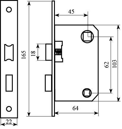Механизм WC Bruno 1251 AB античная латунь