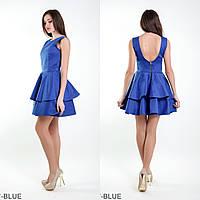 Симпатичное кукольное платье с вырезом на спине и юбкой воланами Evis