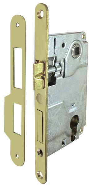 Механизм замка STV JNI9171 латунь 85 мм с ответной планкой 2103