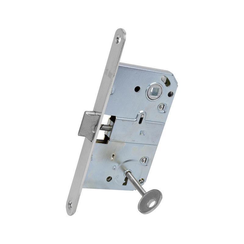 Механізм з ключем АRT DOOR M90K хром 90 мм