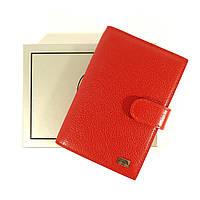Женская кожаная документница: авто права+ паспорт Desisan 102 красная, расцветки в наличии