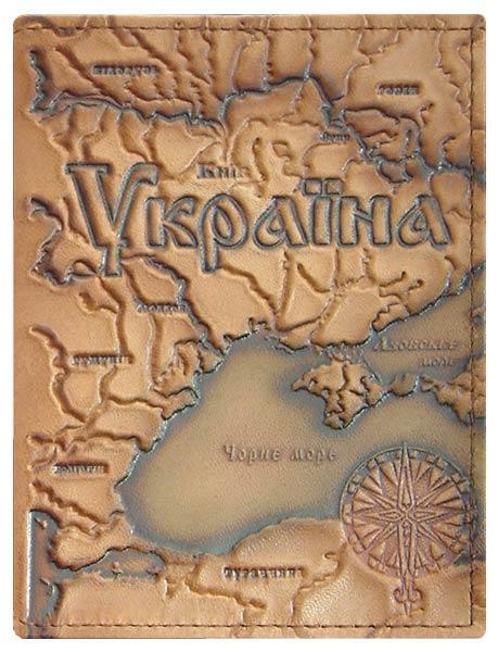 """Обложка на паспорт """"Карта Украины"""""""