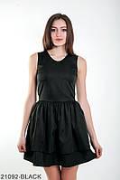 Лаконичное кукольное платье с U-образным вырезом и  воланами на юбке Kiara