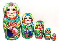 Матрешки 18 см украинские подарочные большие 5 штук в наборе (1)