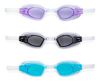Плавательные очки Спорт гипоаллергенный поливинил, защищают от УФ-лучей, для детей 8+
