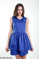 Лаконічне лялькова сукня з U-подібним вирізом і воланами на спідниці Kiara