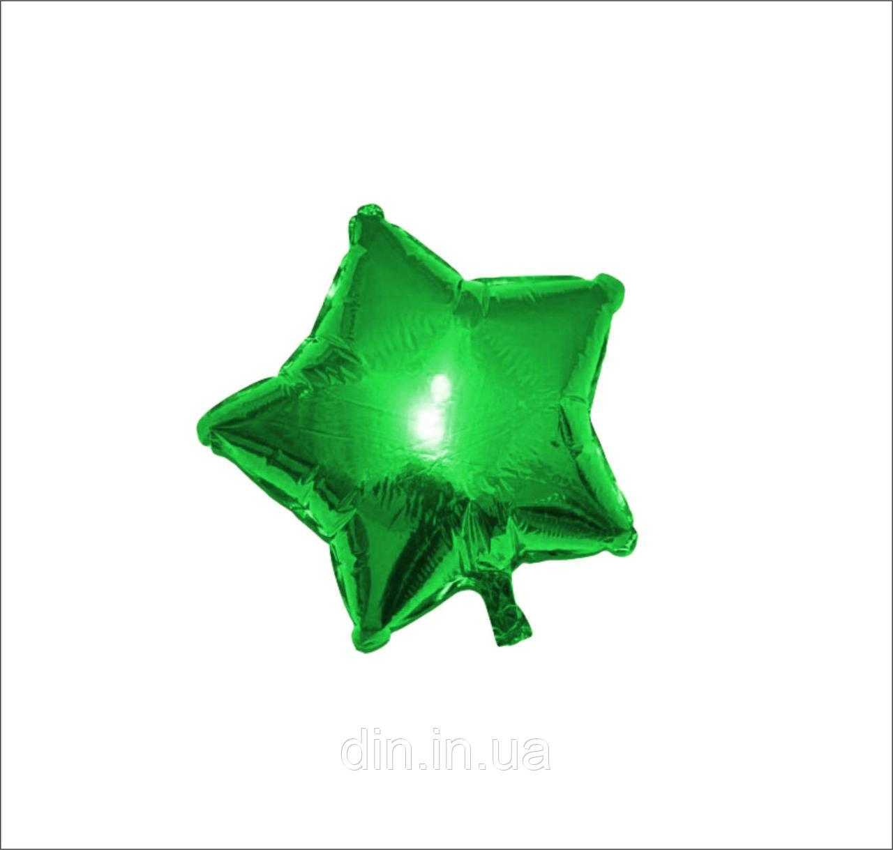 """Воздушный шар фольгированный """"Звезда"""" зеленый"""