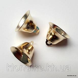 Колокольчики, D - 20 мм, высота: 12 мм, Цвет: Золото (5 шт.)