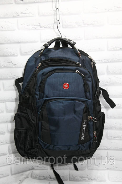 Рюкзак мужской молодёжный SWISSGEAR + USB порт размер 42 x 55 купить оптом со склада 7км Одесса