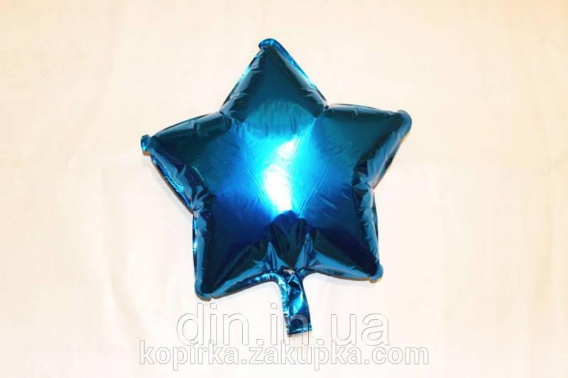 """Воздушный шар фольгированный """"Звезда"""" синий"""