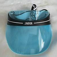 Женский солнцезащитный козырек Diоr голубой, фото 1