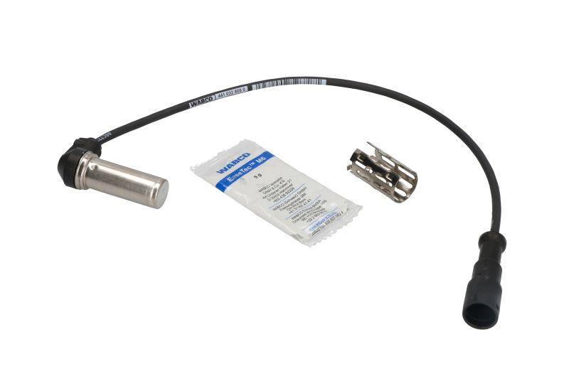 Датчик (сенсор) ABS угловой-комплект(Датчик(сенсор),Втулка,)