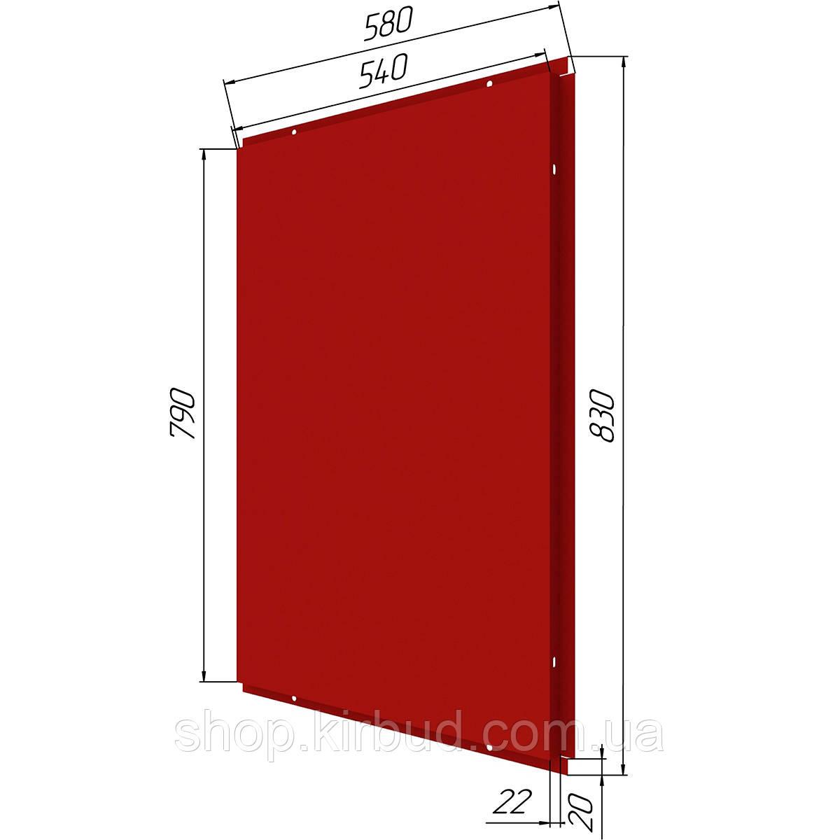 Фасадные касети (под заказ) оцинкованые 0,45мм 580х830мм