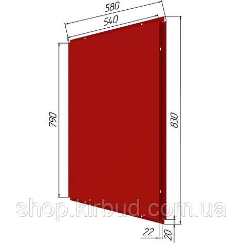 Фасадные касети (под заказ) оцинкованые 0,45мм 580х830мм, фото 2