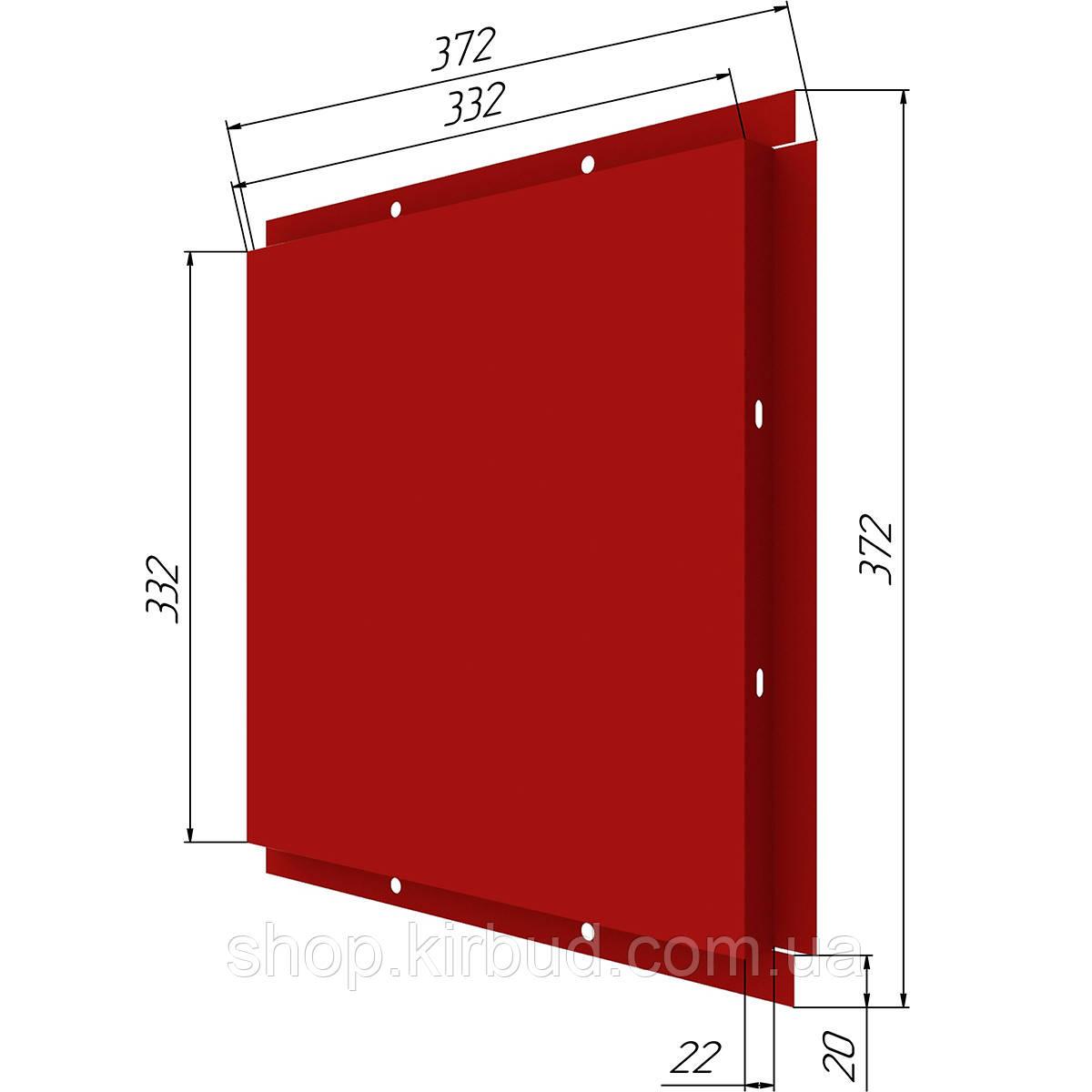Фасадные касети (под заказ) оцинкованые 0,45мм 372х372мм