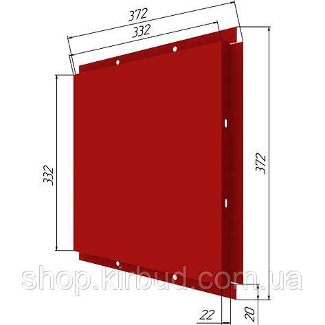 Фасадные касети (под заказ) оцинкованые 0,45мм 372х372мм, фото 2