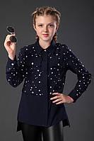 Блузка синяя для девочек, фото 1