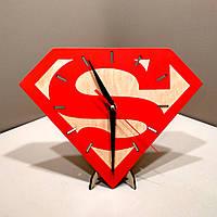 Часы настенные. Настенные деревянные часы Супермен.
