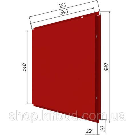 Фасадные касети (под заказ) оцинкованые 0,50мм 580х580мм, фото 2