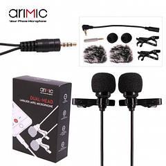 Петличный микрофон двойной AriMic Dualmic с 6 м кабелем