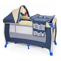 Детская кровать-манеж Moolino Deluxe туристическая (дитяче ліжко-манеж туристичне)