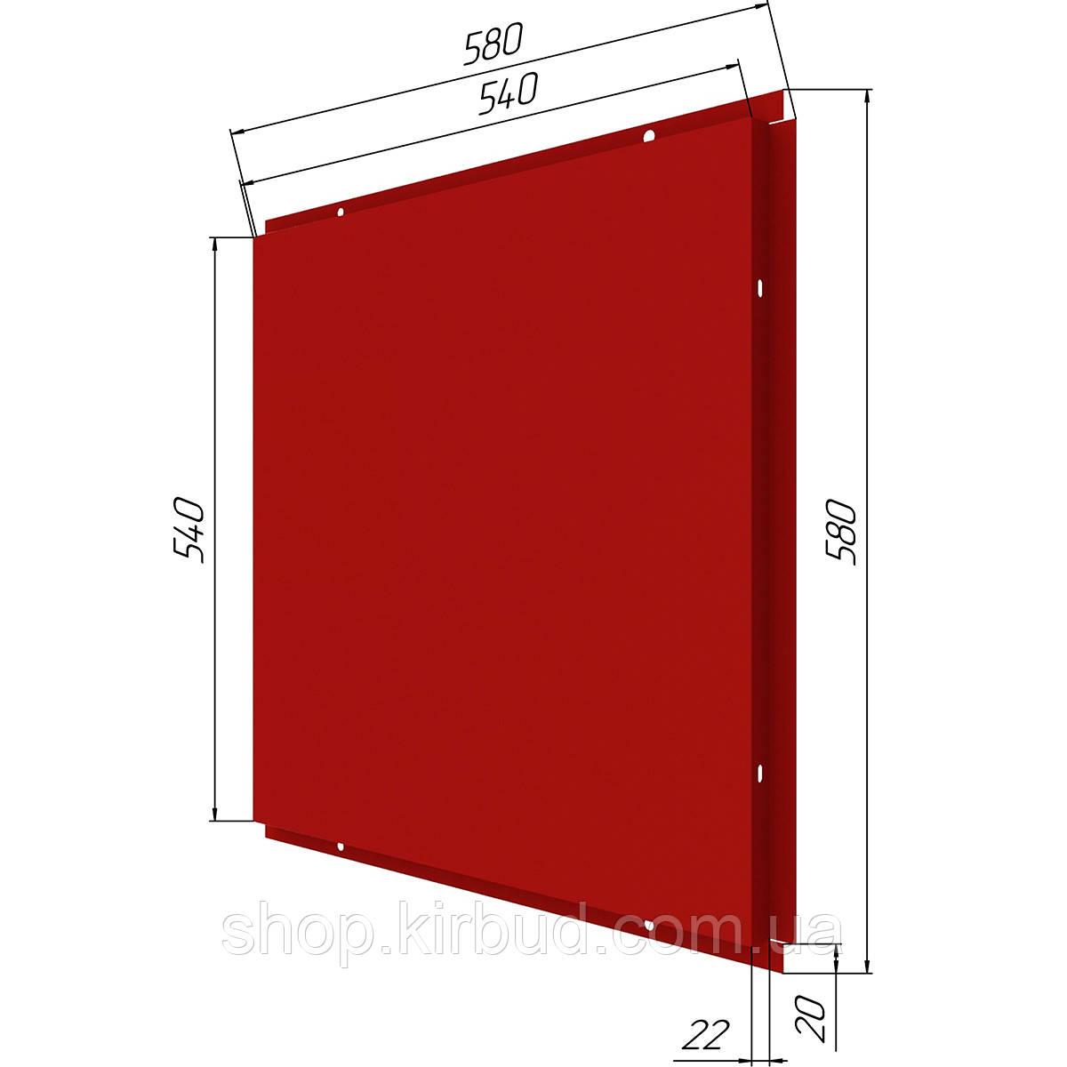 Фасадные касети (под заказ) матт 0,45мм 580х580мм