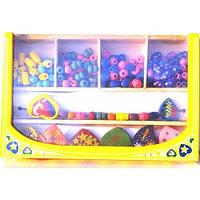 Развивающая игрушка для девочек фигурный деревянный бисер B500