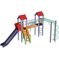 Детский спортивный и игровой комплекс Вагончик высота 1,5 м, фото 1