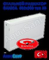 Стальной радиатор Sanica 500x500 тип 33 боковое подключение