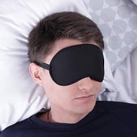 Маска для сна, повязка для сна черного цвета, 100% хлопок