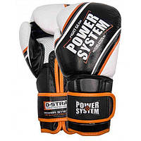 Перчатки для бокса PowerSystem PS 5006 Contender 14oz Black/Orange Line, фото 1