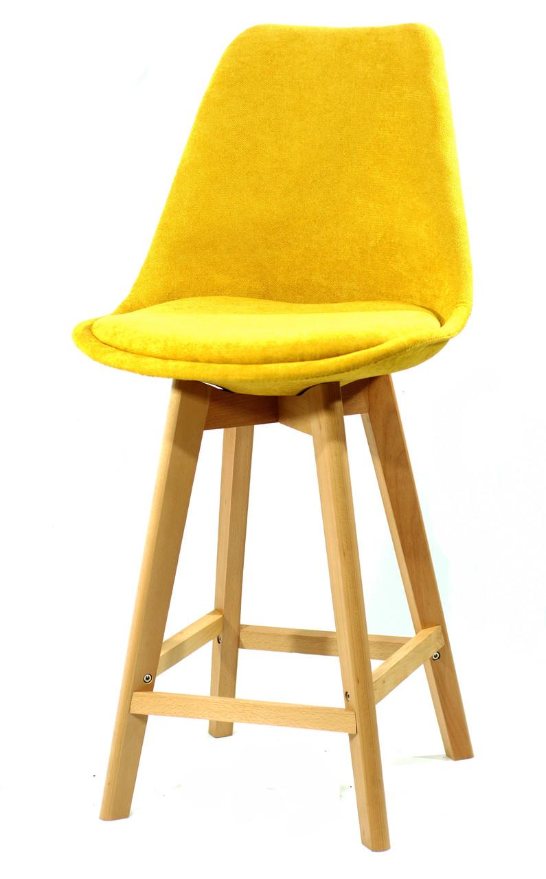Барный стул Milan Soft Шенилл, желтый