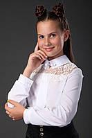 Блузка детская с гипюровой вставкой, фото 1