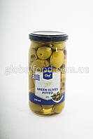 Оливки зеленые Греция большие без кос. TM CHEF  370 мл. стекло