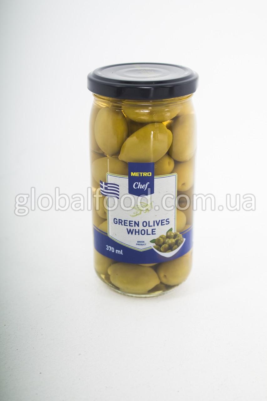 Оливки зеленые Греция большие с кос. TM CHEF  370 мл. стекло