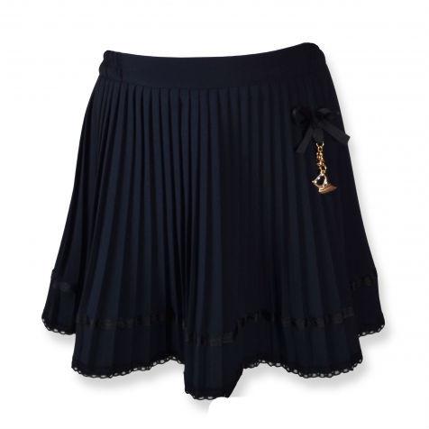 Нарядная дешевая юбка плиссированная для школы, черный,синий цвет