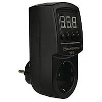 Реле контроля напряжения в розетку АСКО-УКРЕМ VR-10 черный