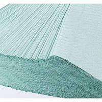 Полотенца бумажные BASIC из макулатуры зеленые 200 листов в пачке