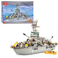 Детский конструктор Sluban 619931/M 38 B 0126 Военный корабль, 577 дет