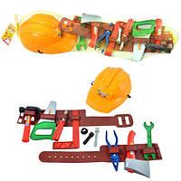 Детский набор инструментов 25162 с каской и поясом