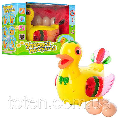 Детская интерактивная игрушка Утка 20218  несет яйца 13