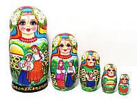 Матрешки украинские большие расписные 18 см, 5 штук, авторская роспись (2)