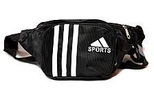 Бананка поясна сумка чорного кольору sports, фото 2