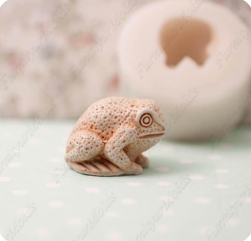 Силиконовый молд на 3-D фигуру лягушки