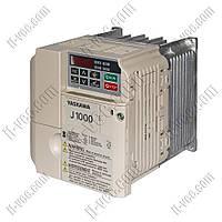Преобразователь частоты Yaskawa J1000 1.1kW/1.1kW 230V 1ph to 3ph AC, DBr