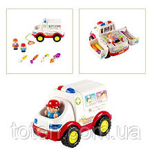 Детский игровой набор Доктор машинка 836 (9473) мелодии, звук мотора, свет фар