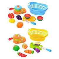 Овощи 228 D 5-5  на липучке, плита, посуда, 2 вида, в корзине