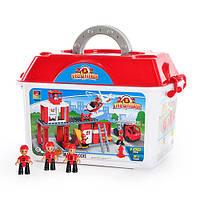 Детский конструктор Пожарная станция Jubillux B 6659, 100 деталей