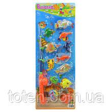 Рыбалка детская на магнитах  1 удочка  морские обитатели 12 шт. M 0052 U/R Т